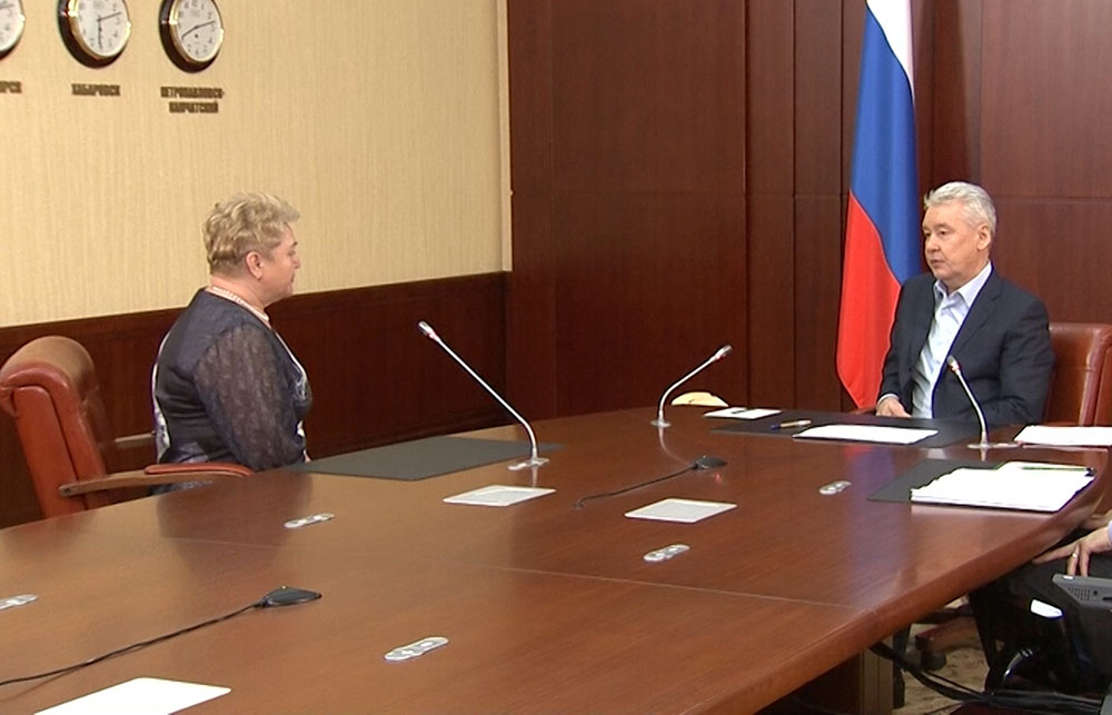 Мэр Москвы Сергей Собянин во время приема граждан в администрации президента