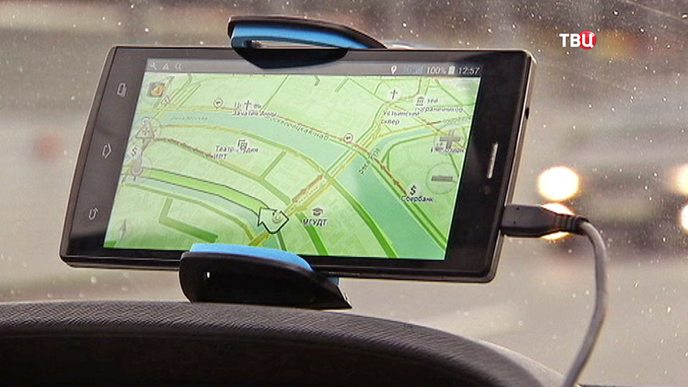 Карта GPS навигатора на смартфоне