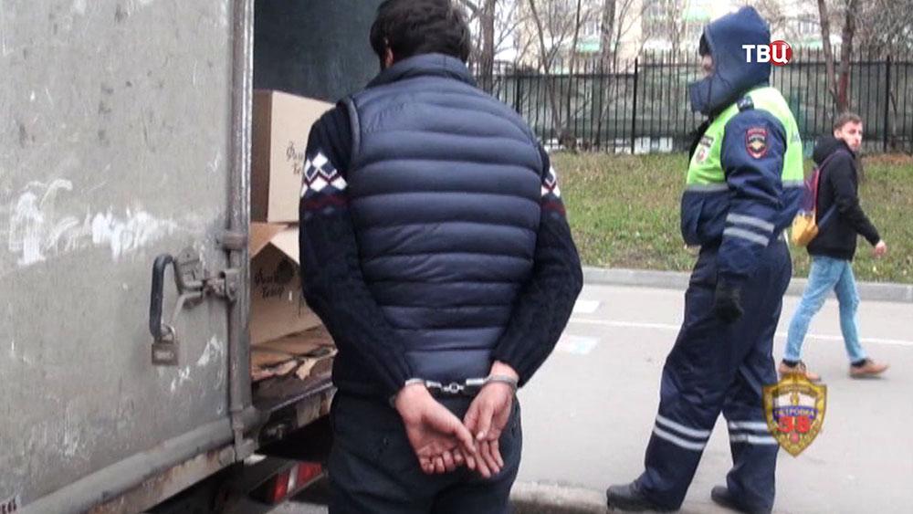 """Задержанный угонщик """"Газели"""""""