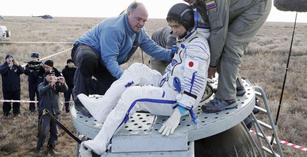 Японский астронавт Такуя Ониши