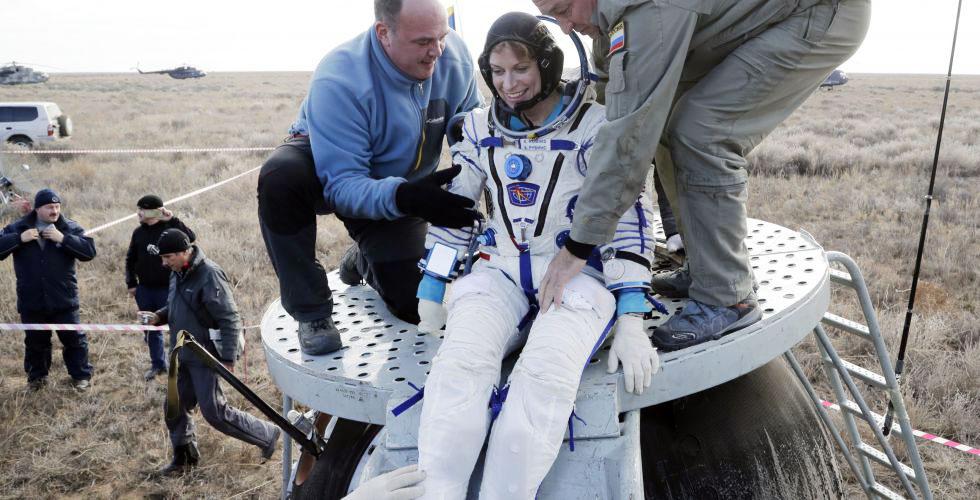 Американский астронавт Кэтлин Рубинс
