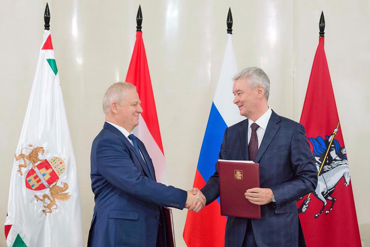 Подписание программы сотрудничества между Правительством Москвы и Мэрией Будапешта на 2016–2019 годы