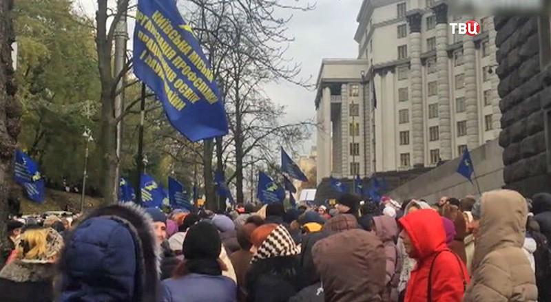 Акция протеста у стен Верховной Рады