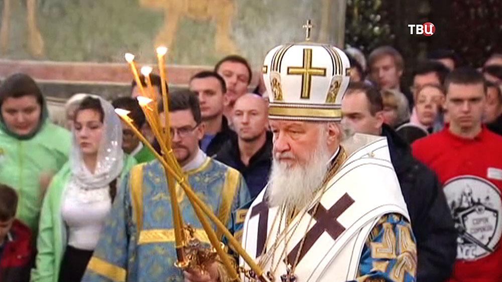 Патриарх Кирилл провел литургию в честь Казанской иконы Божией Матери