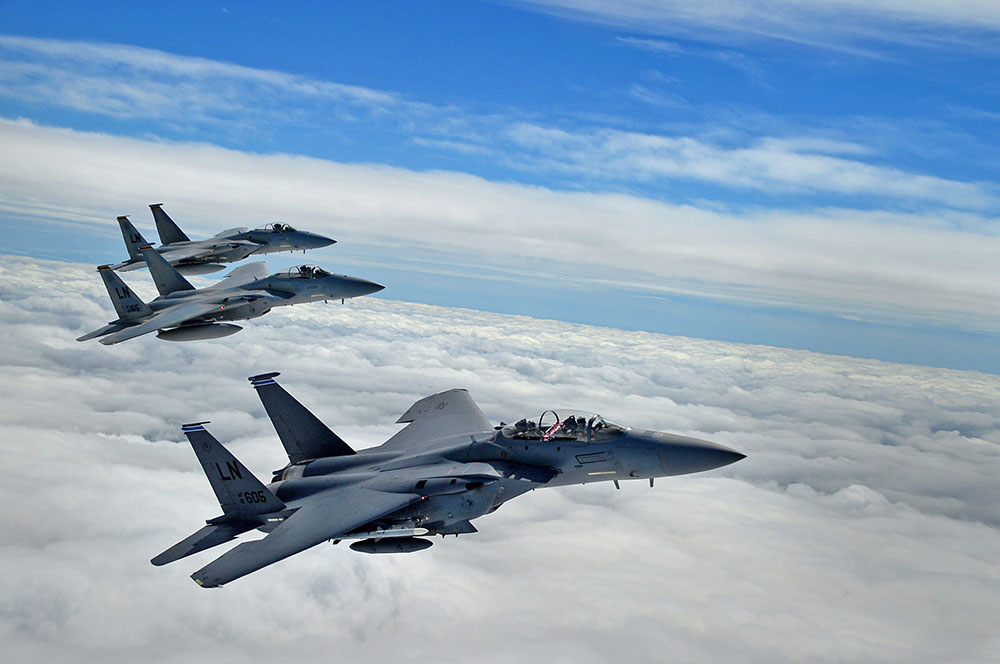 Самолеты F-15C ВВС США