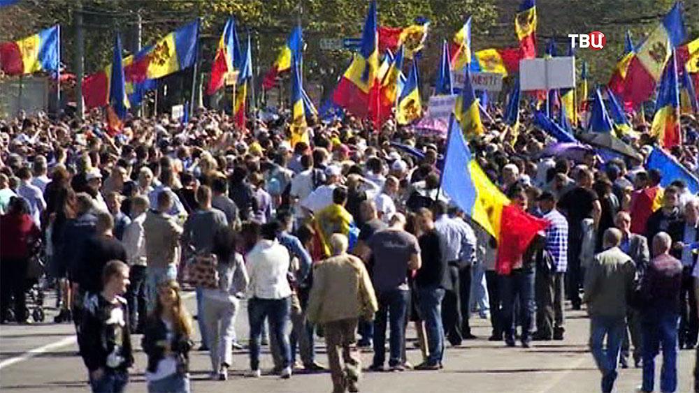 Митинг в Молдавии