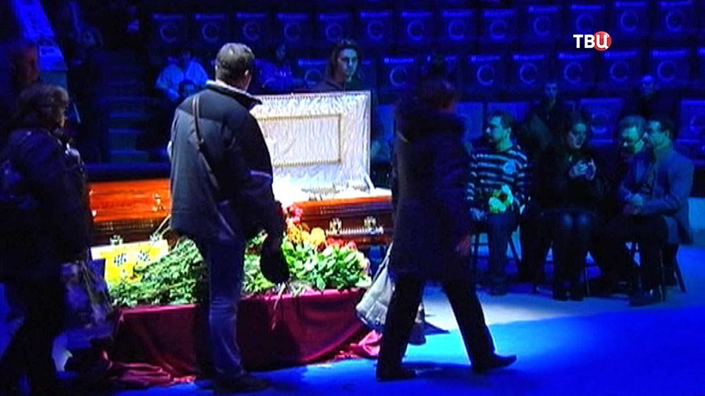 Церемония прощания с Олегом Поповым