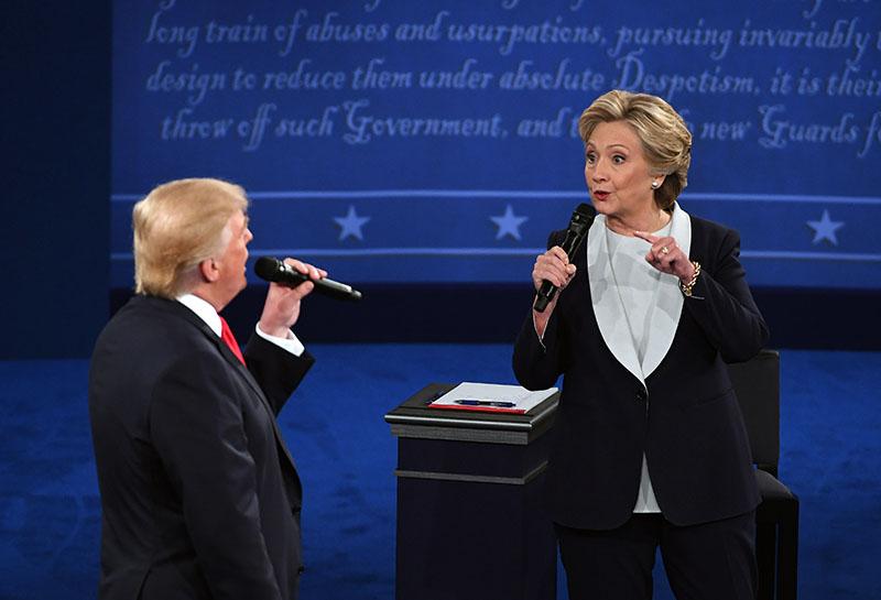 Кандидаты в президенты США Дональд Трамп и Хилари Клинтон