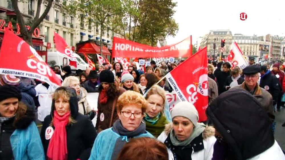 Митинг врачей во Франции