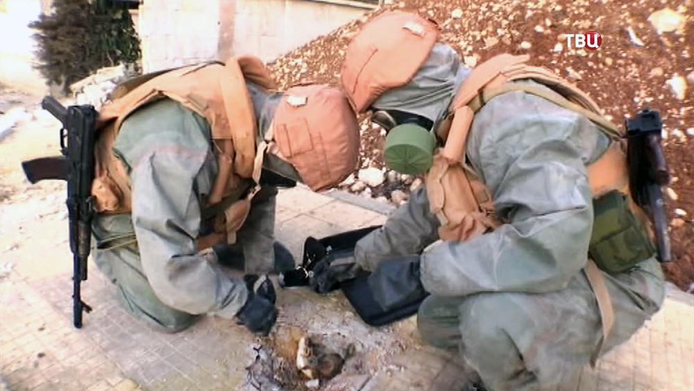 Российские специалисты изучают последствия применения химоружия в Сирии