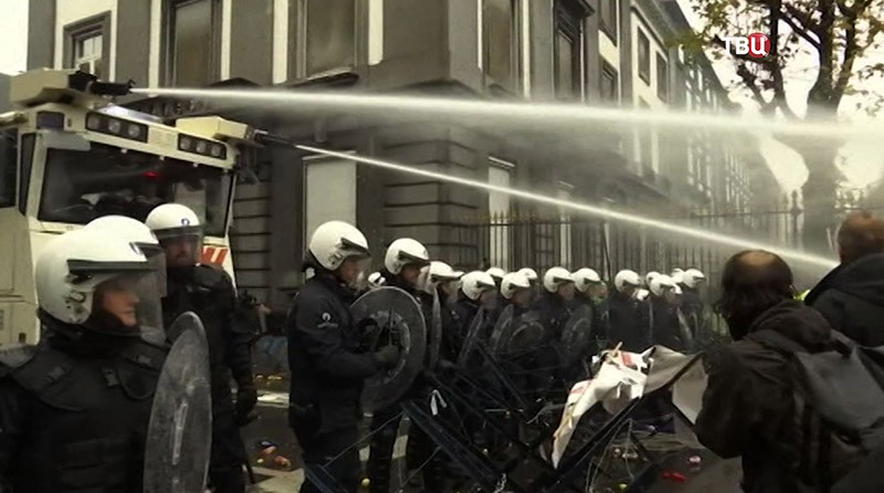 Акция протеста Брюсселе