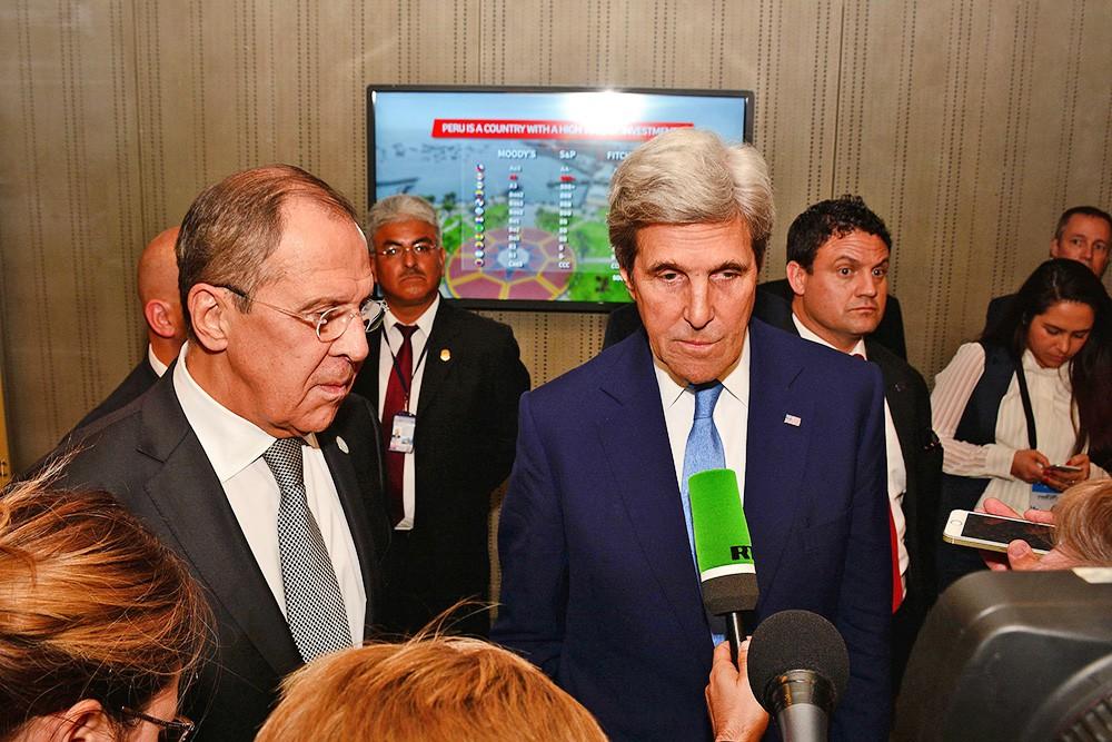Глава МИР России Сергей Лавров и госсекретарь США Джон Керри