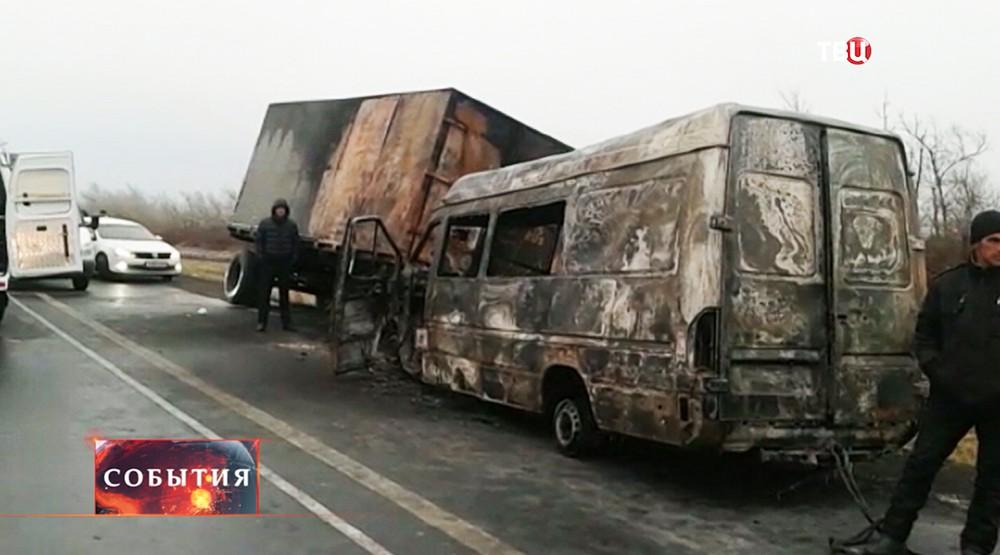 ДТП с участием автобуса под Ростовом