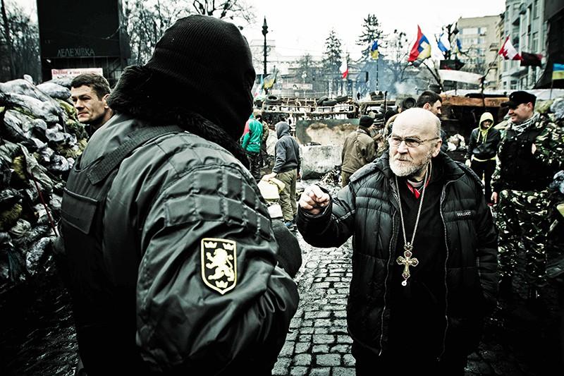 Баррикады в Киеве. Февраль 2014 год
