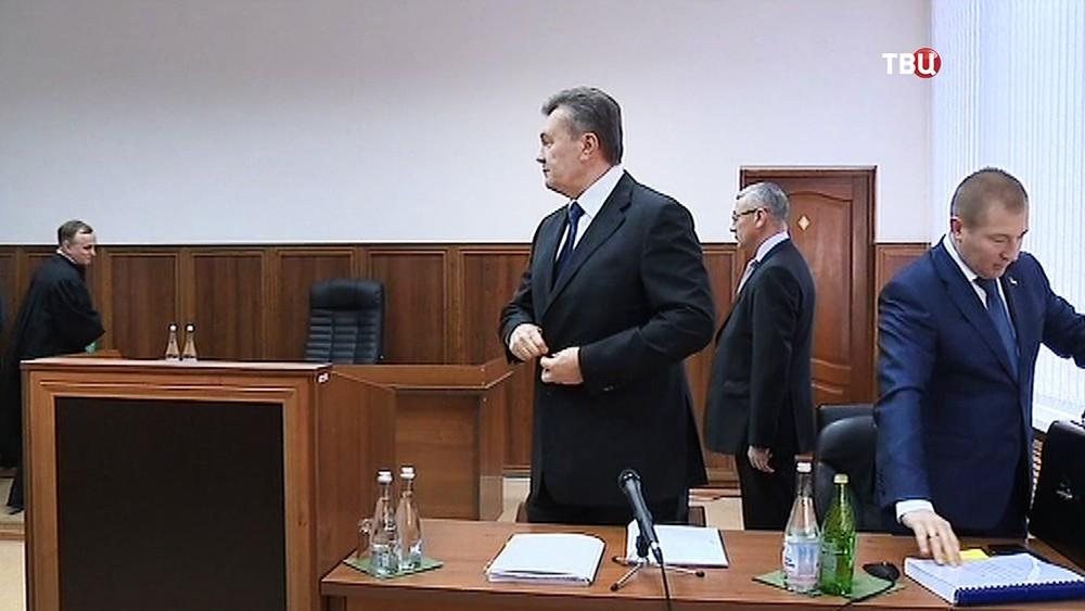 Виктор Янукович в суде