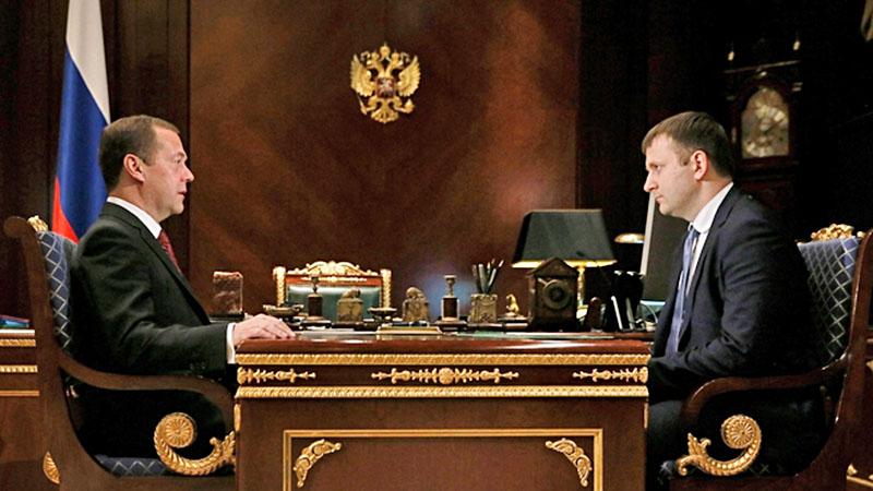 Дмитрий Медведев и Максим Орешкин