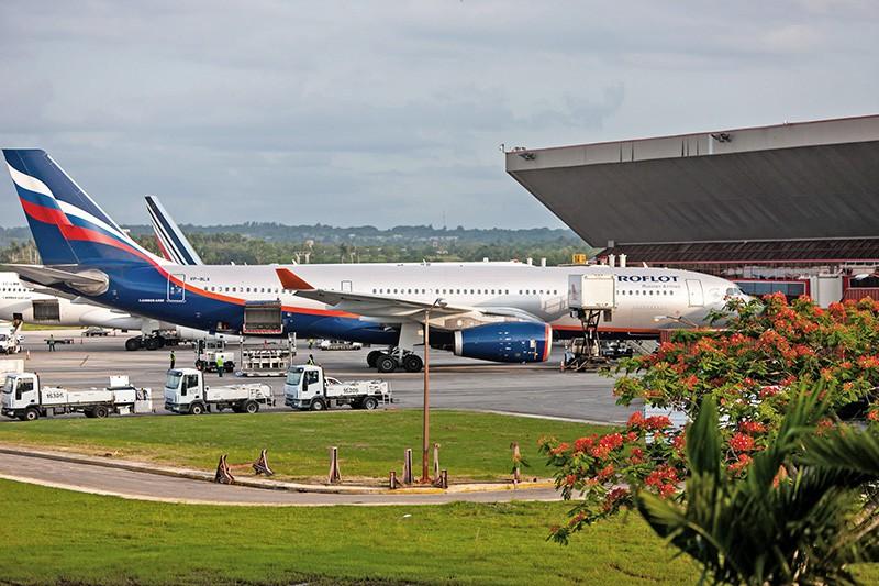 "Самолет компании ""Аэрофлот"" в аэропорту Хосе Марти в Гаване"