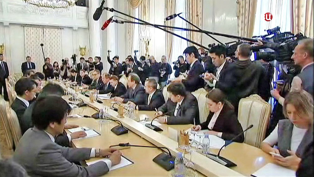 Главы МИД России и Японии Сергей Лавров и Фумио Кисидо
