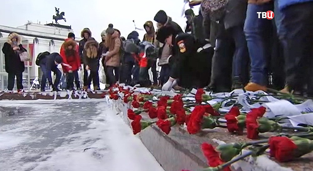 """Мемориальная акция """"Лента Памяти"""" на Поклонной горе"""
