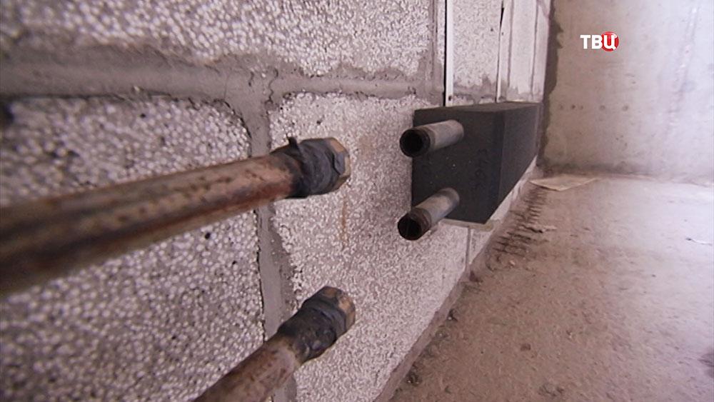 Состояние трубопровода в многоквартирном доме