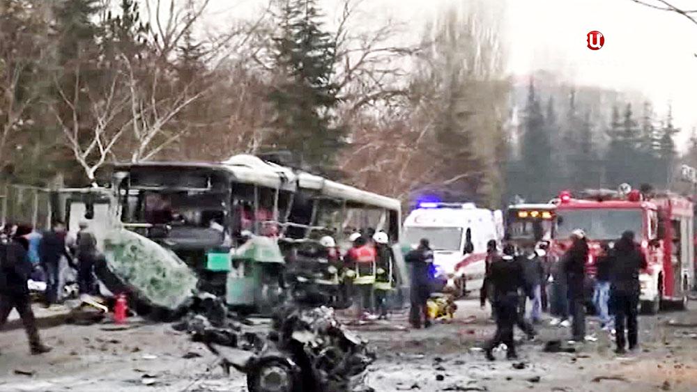 Взрыв автобуса в Турции