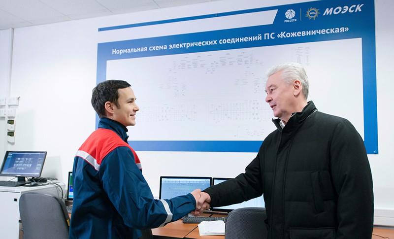Сергей Собянин на открытии электроподстанции «Кожевническая»