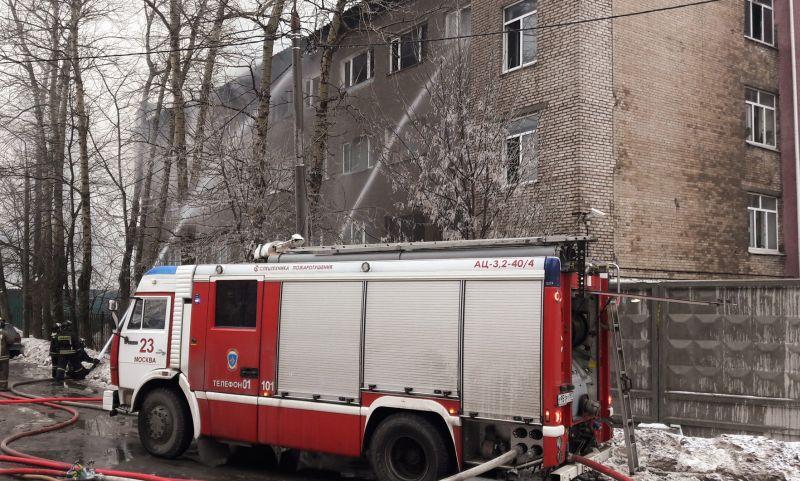 Противопожарная служба на месте происшествия