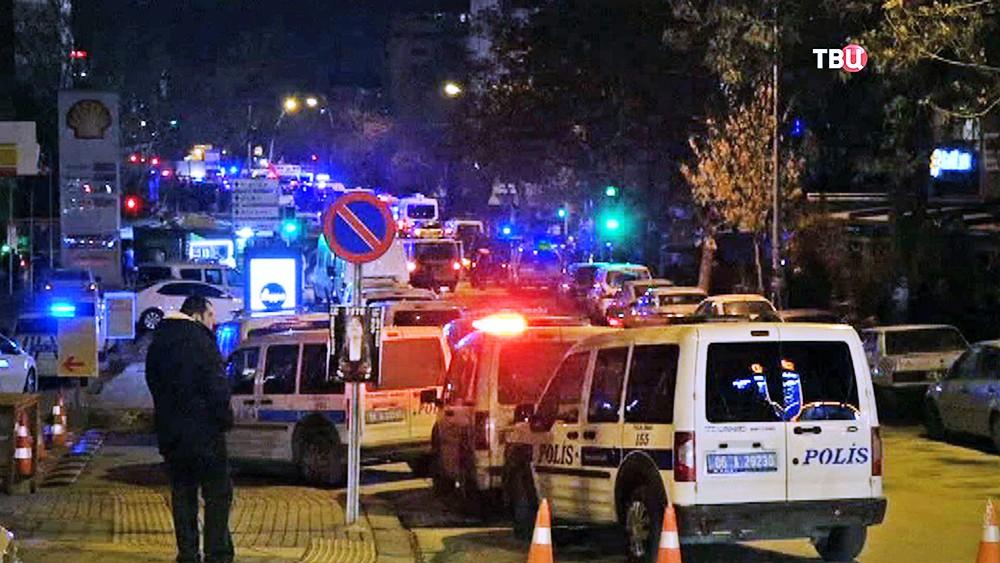 Полиция Турции на месте происшествия