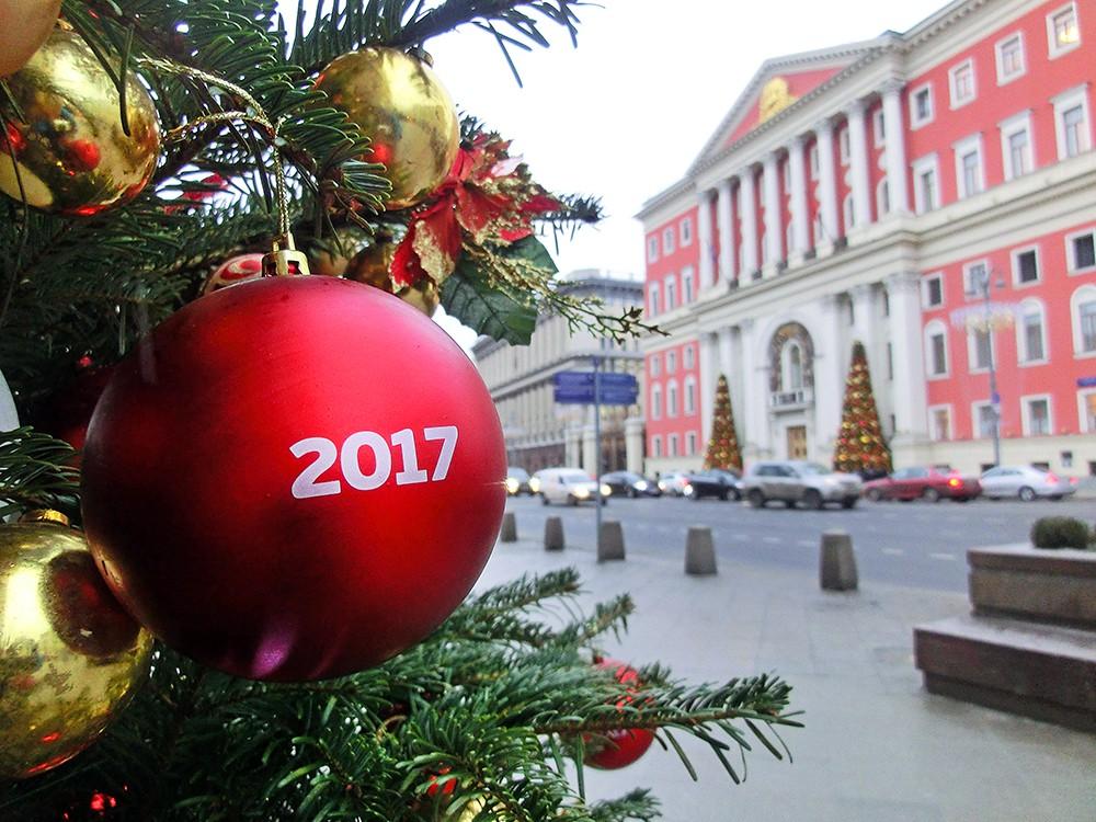 Украшение москвы на праздники