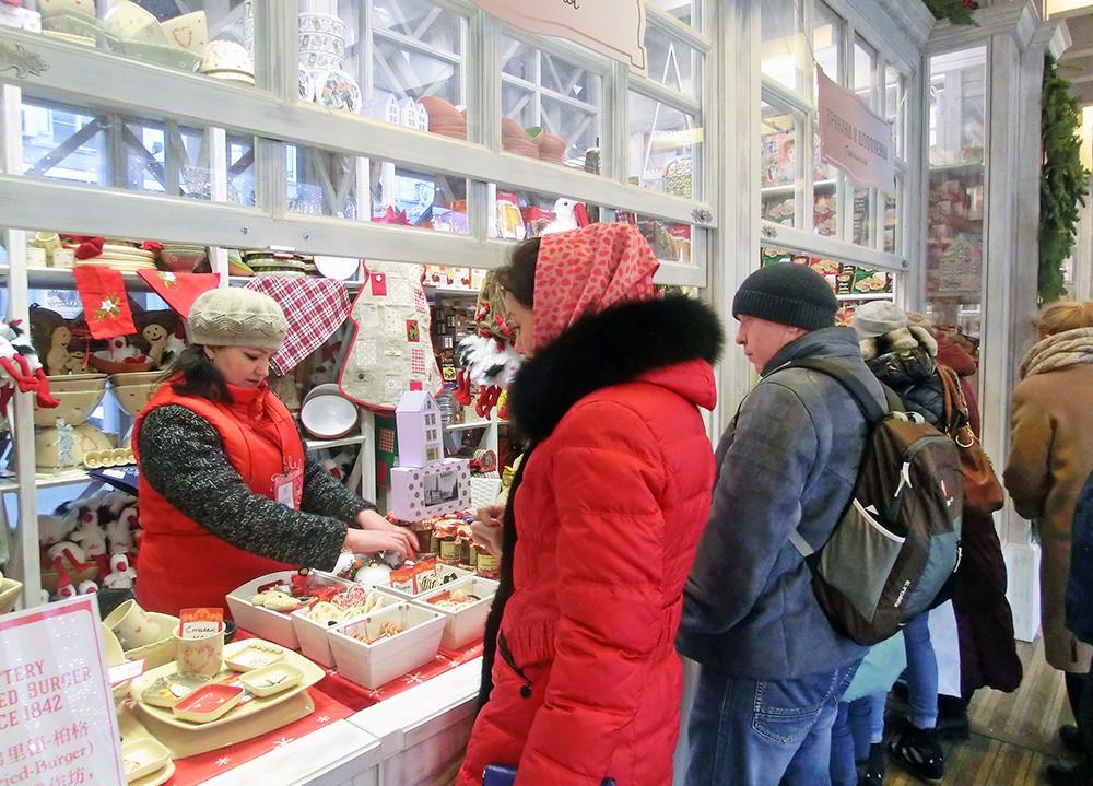 Новогодняя ярмарка на Тверской площади