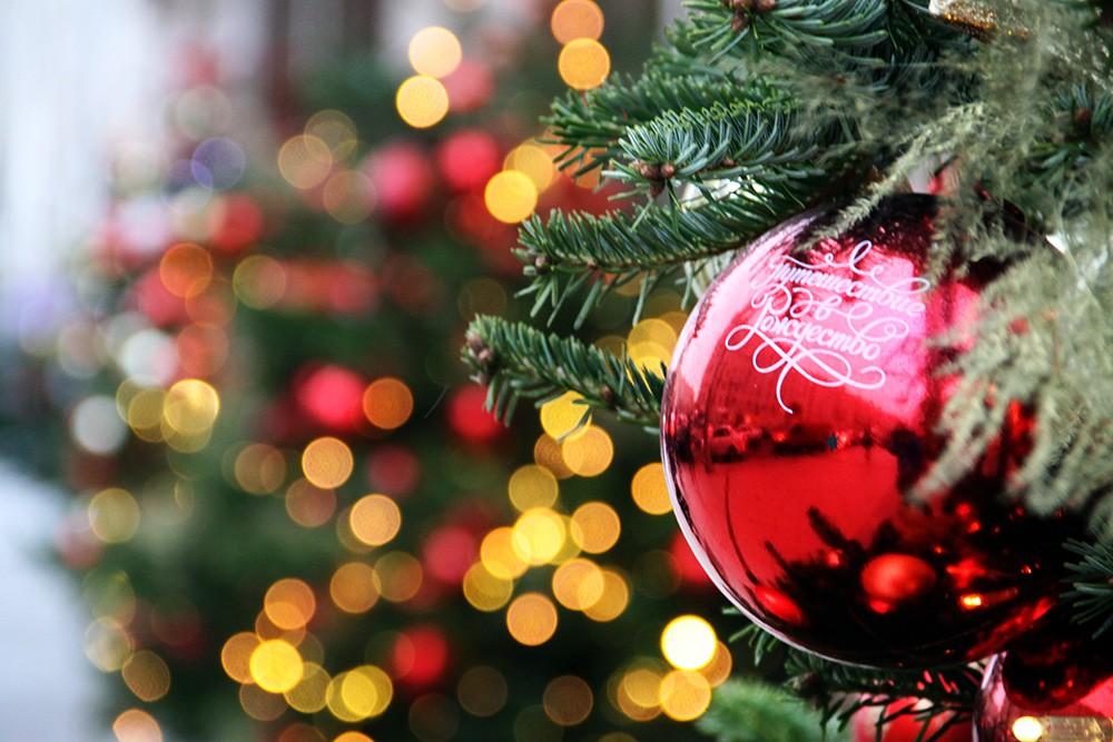 Новогоднее украшение улицы Тверская