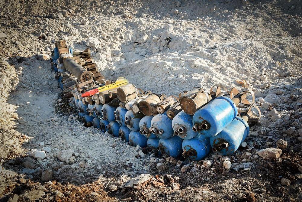 Обезвреженные боеприпасы в Сирии