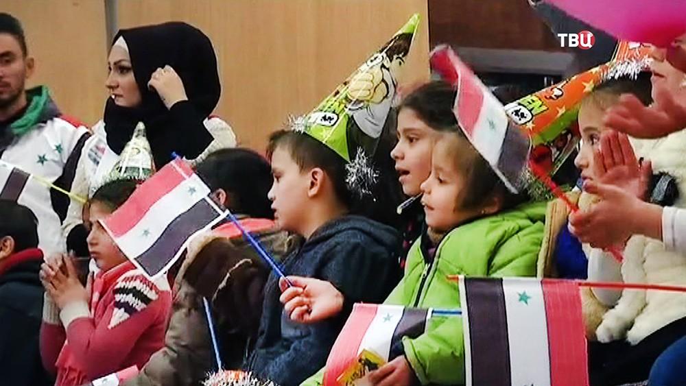 Дети Сирии празднуют Новый год