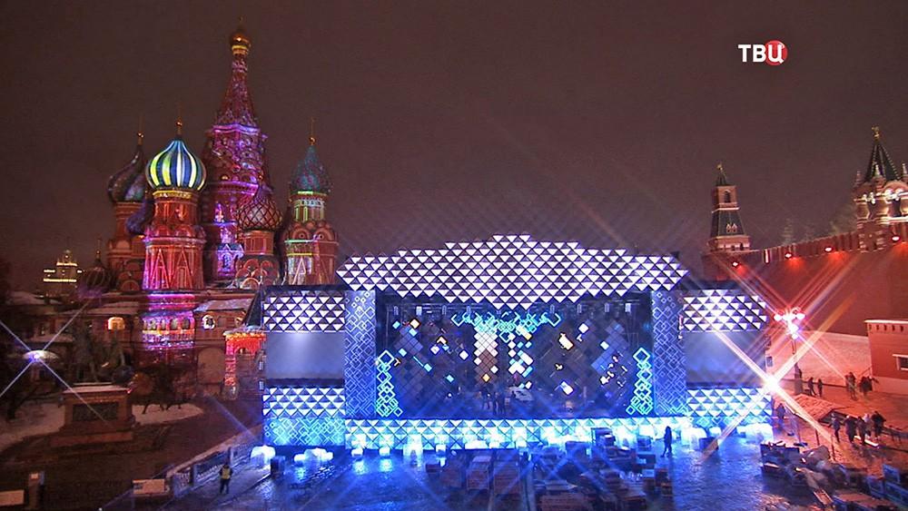 Новогодний концерт на Красной площади
