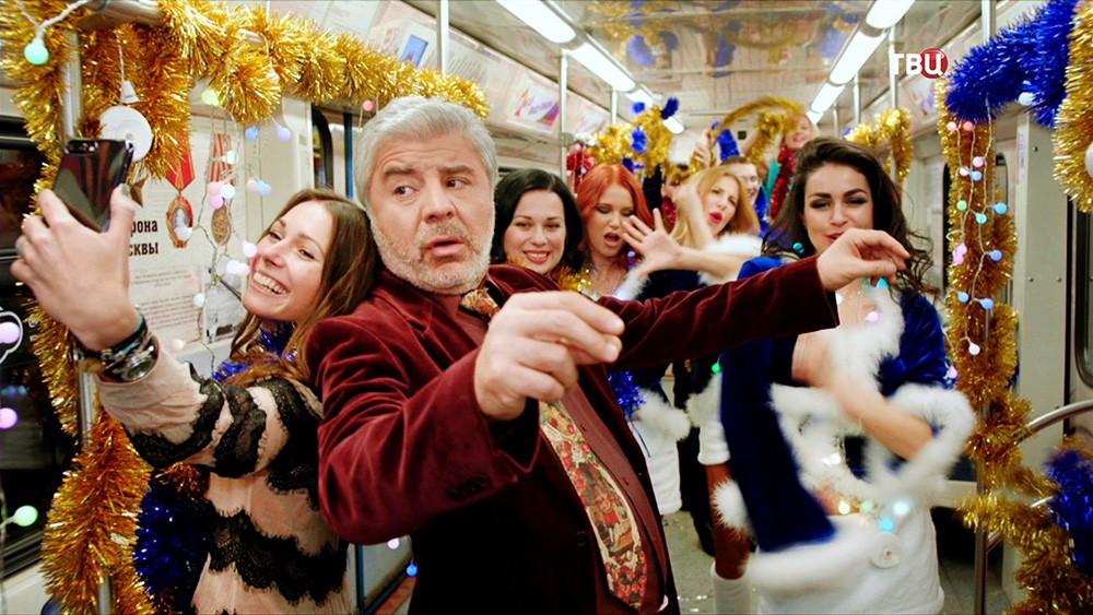 Сосо Павлиашвили в новогоднем вечере в метро