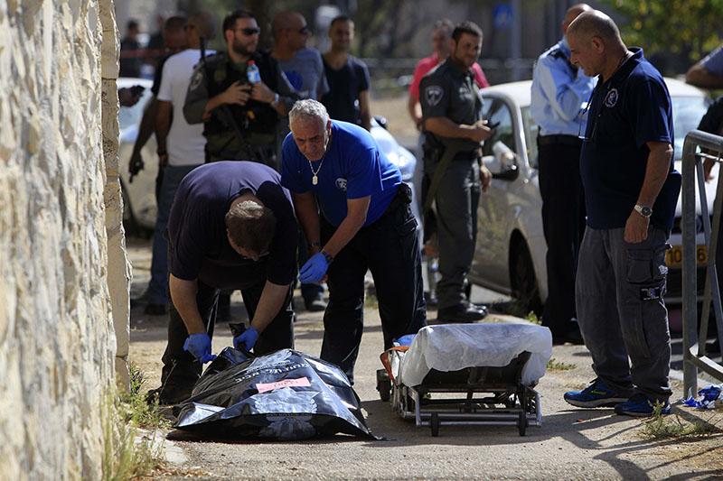 Полиция и скорая помощь Израиля на месте происшествия