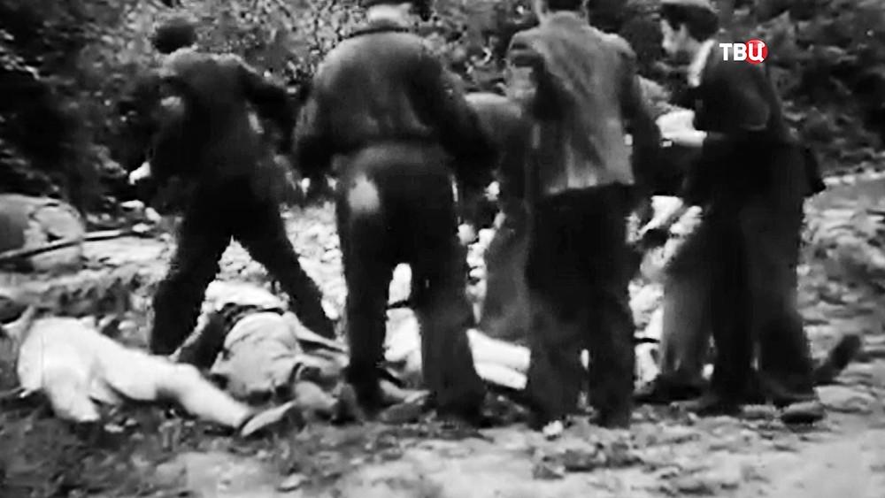 Исторические кадры убийств евреев на Украине