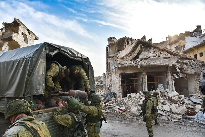 Разминирование квартала города Алеппо, Сирия