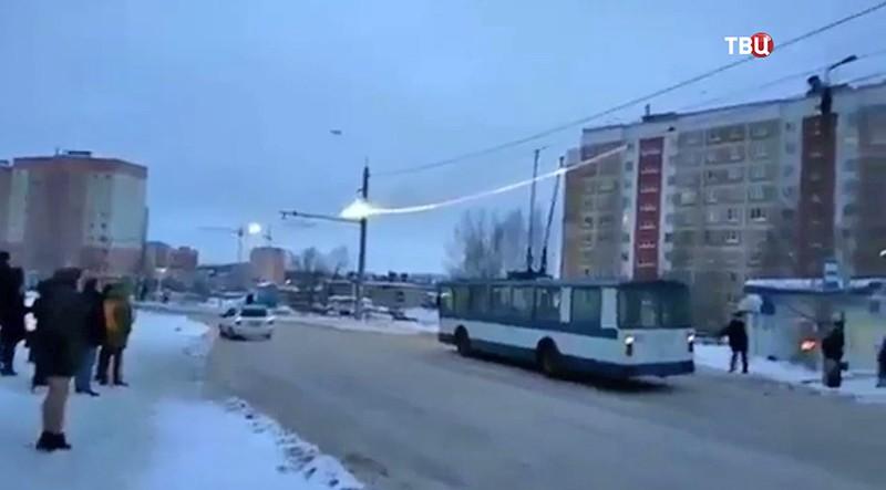 Горящие провода в Смоленске