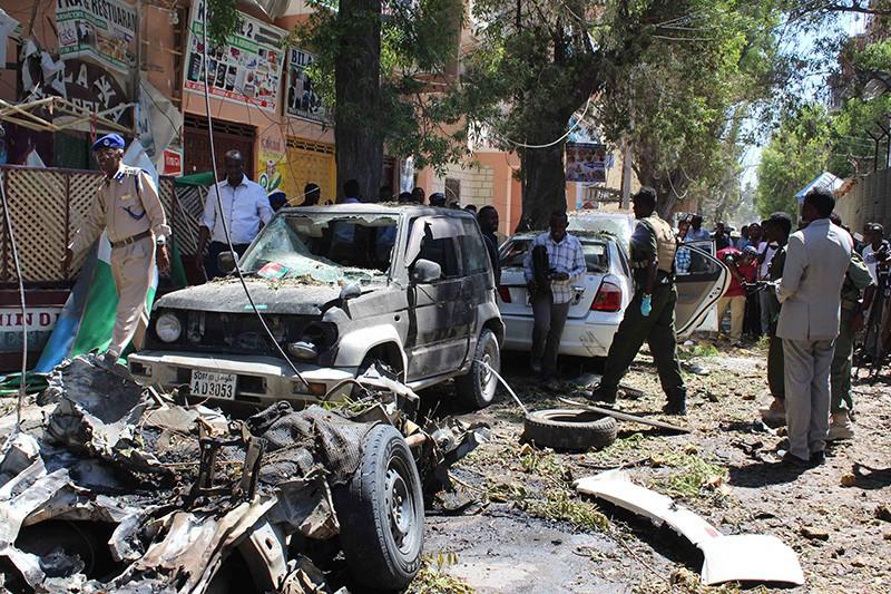 На месте взрыва в Мали