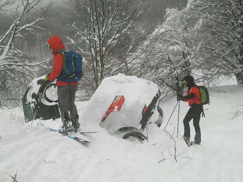 Cход лавины в Италии