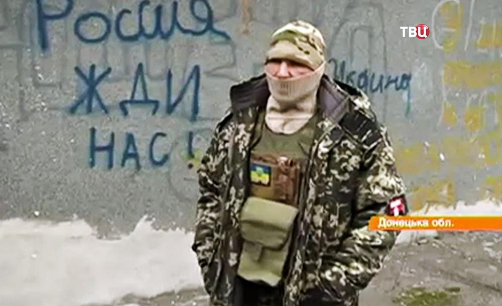"""Участник """"Правого сектора"""" россиянин Алексей Шемелин"""