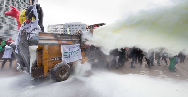 Акция фермеров в Брюсселе