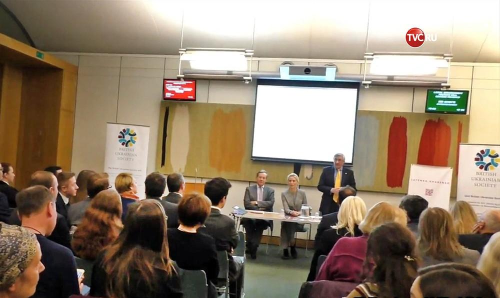 Журналист Грэм Филлипс на встрече Британо-Украинского сообщества