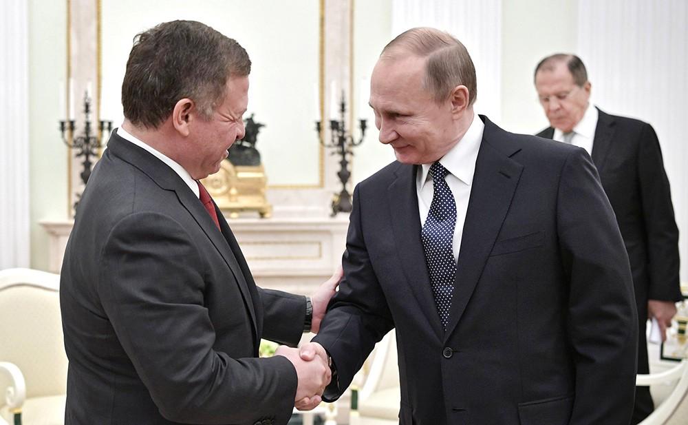 Президент России Владимир Путин и король Иордании Абдалла II