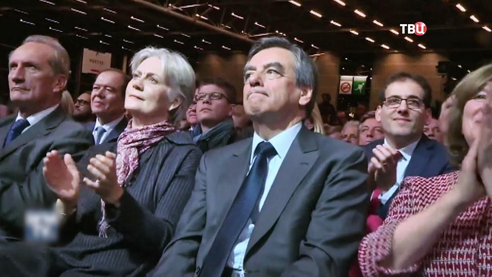 Франсуа Фийон с женой