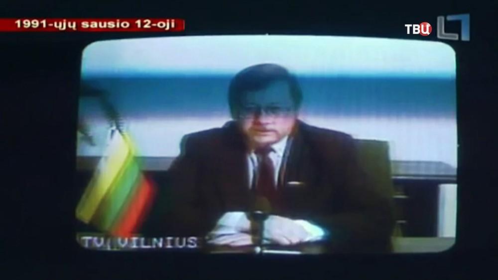 Вещание из захваченного литовскими националистами телецентра