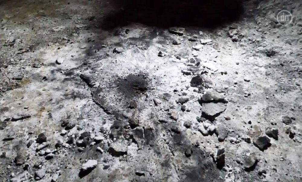 На месте взрыва в Славянске
