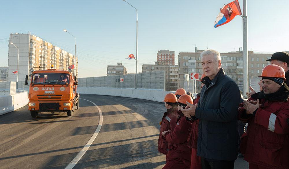 Открытие автодорожного путепровода на 34-м километре Курского направления МЖД в Щербинке