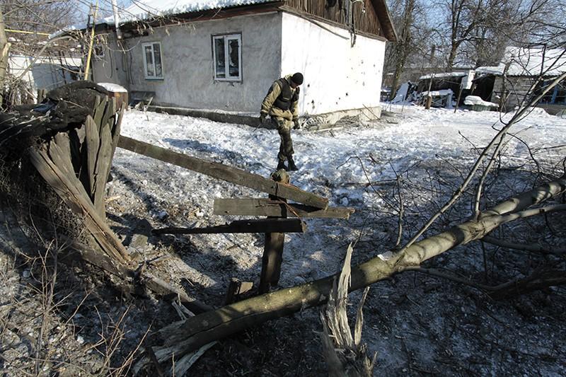 Результат обстрела города Макеевка. Донецкая область. Украина
